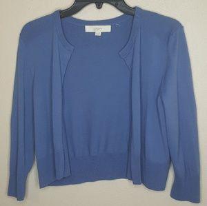4/$25 M LOFT Ann Taylor Blue Sweater Cardigan D